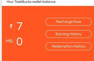 Task bucks free paytm cash and free recharge