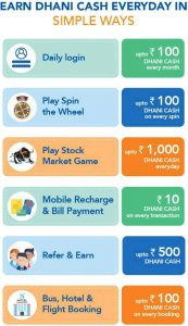earn dhani cash