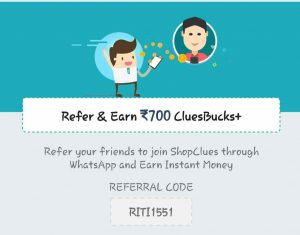 shopclues referral code