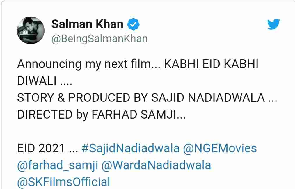 Slaman khan upcoming film