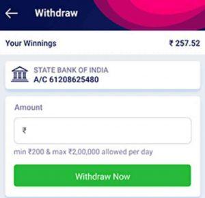 withdrwa money