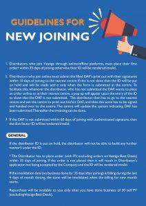 Vestige Rules For New User (2)