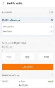 Medlife e-Cash Bonus