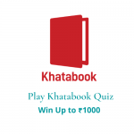 Khatabook Quiz Answers