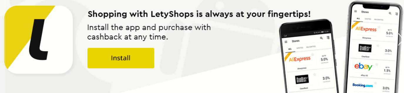 Letyshops Cashback App