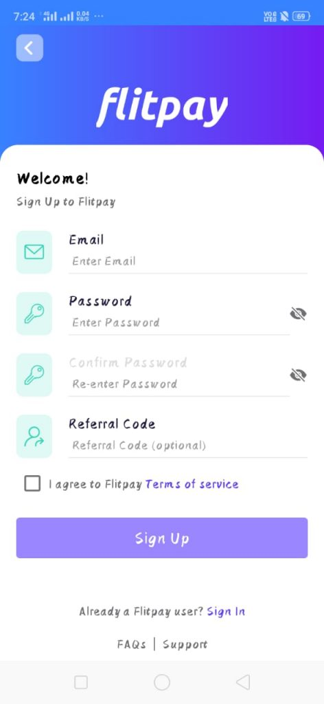 Flitpay Referral Code