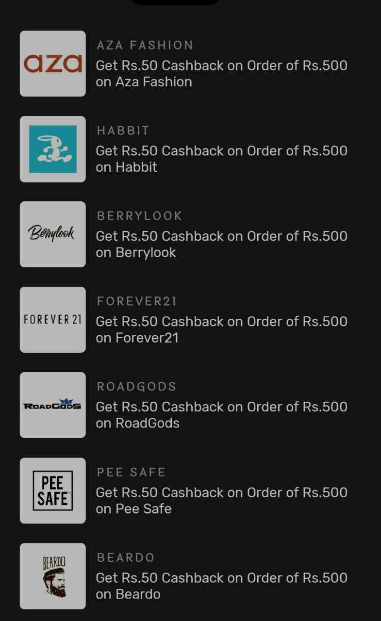 Picxele Cashback Offers
