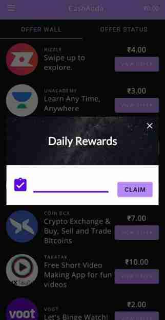 CashAdda share and earn