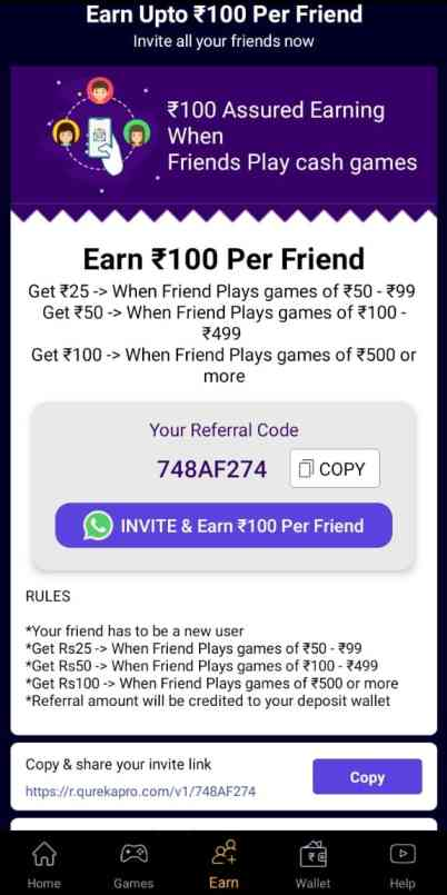 Playtime Referral Code