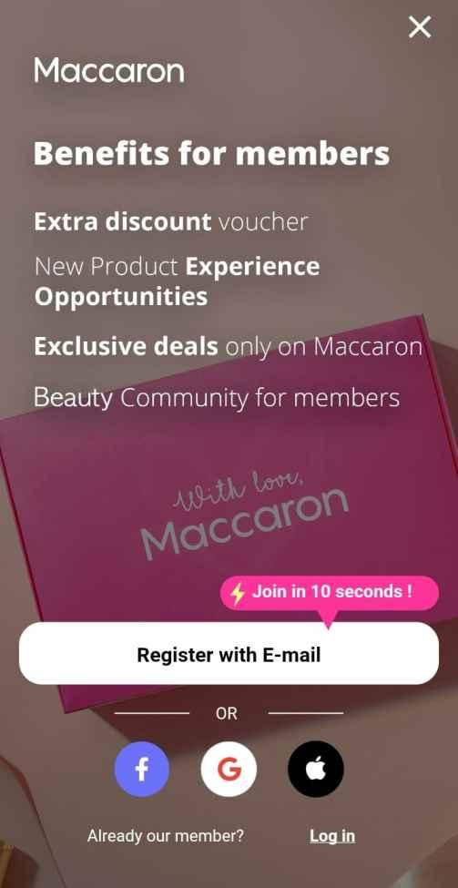 Maccaron share and earn